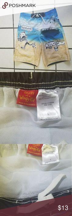 d5683487429 Boys Diary of a Wimpy Kid swim shorts trunks L Dairy of a Wimpy Kid swim