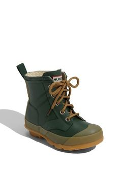 Free shipping and returns on Hunter 'Thurloe' Boot (Toddler & Little Kid) at Nordstrom.com. A lugged rubber sole provides maximum traction for rainy-day play in a waterproof boot designed to keep little feet dry.