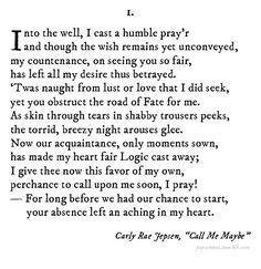If Shakespeare Wrote Pop Songs: Call Me Maybe