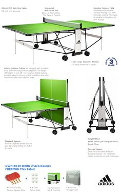Adidas To Lime Outdoor Grey Package Table Tennis Table