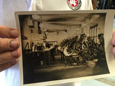Olde Tyme picture of the LA times composing room, acquired by Mark during my visit to the International Printing Museum