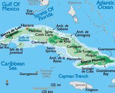 Cuba is the principal island and around it there are four main groups of islands.• Los Colorados along the north –east coast of the Pinar del Rio Province .• Sabana Camagüey also known as Jardines del Rey north of Matanzas, Villa Clara, Sancti Spirtus , Ciego de Avila and Camagüey.• Jardines de la Reina South of Ciego de Avila and Camaguey.• Los Canarreos South of Matanzas, Habana and Pinar del Rio.