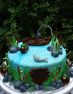 1000 images about fishing cakes on pinterest fishing for Gone fishing cake