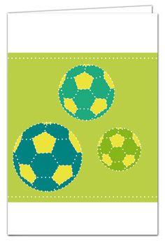 Fußballkarte zum Prickeln