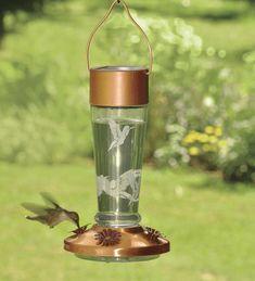 Color Changing Solar Hummingbird Feeder