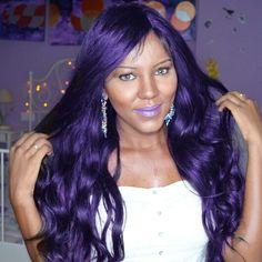 Hair purple pink