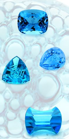 Swiss Blue Topaz~some lovely cuts
