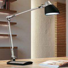 LED-Arbeitsplatzbeleuchtung - Moderne Schreibtischleuchte - Schwarz schwarz/silber