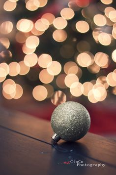 ::love this simple silver sparkly ornament to decorate our christmas tree::