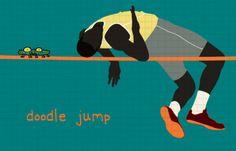 Doodle (high) Jump illustration