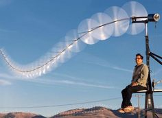 Ten Times the Turbine Doug Selsam's Sky Serpent uses an array of small rotors to catch more wind for less money
