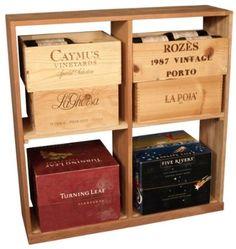 Amazon.com: Wooden 96 Bottle Solid Case Storage Bin Wine Rack Kit (Ponderosa Pine): Home & Kitchen