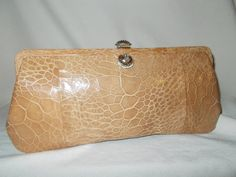 Rare beautiful 50'sTurtle skin vintage clutch purse by VintageHandbagDreams on Etsy