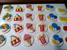 Edible Carnival / Circus Cupcake Toppers by SweetPrincesses2