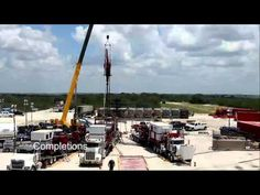 Published on Dec 4, 2012     This timelapse video shows the drilling and fracking of a typical Marathon Oil well in the Eagle Ford, Texas. It was captured in the summer of 2012.