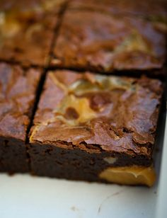 Chocolate dulce de leche brownie recipe