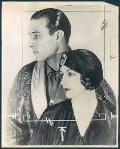 Rudolph Valentino and Natacha Rambova, 1920's  Repinned for History 300 short paper 2 assignment