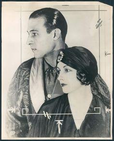 Rudolph Valentino and Natacha Rambova, 1920's  Repinned for History 300 short paper 2 assignment