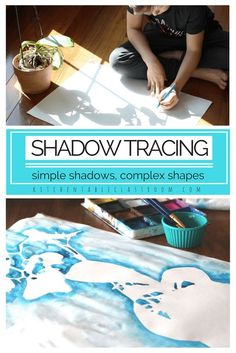 I love this shadow drawing experience because it can be as simple or as complex as you choose. Artists of any age can sink into this activity that only requires pencil and paper but hits on some big ideas! If you've got more time add some color to the negative spaces using paint or chalk pastels.