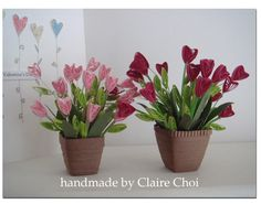 quilled potted plants