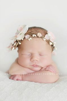 milk peaches newborn band by motifcaprice on Etsy, $40.00