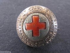 S. Australian Junior Section Red Cross (B.R.C..S.) Button Style Badge