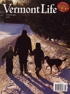 Winter 2001-02. Alice Perron and her children, Roy and Mavis, and their dog Chester in Greensboro, photograph by Kindra Clineff.