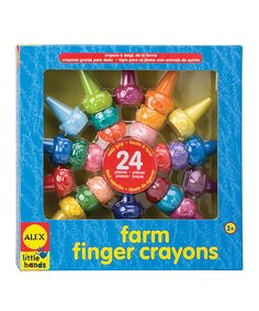 Look at this Farm Finger Crayons on #zulily today!