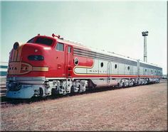 A company photo of a recently outshopped set of Santa Fe E8s, led by #2, circa 1952.  The railroad owned few of this model.