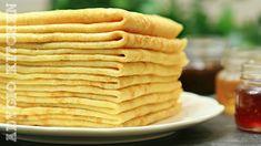 Clatite, reteta clasica de clatite simple, pufoase si moi. Reteta de baza pentru clatite sarate sau dulci Cake Recipes, Dessert Recipes, Cooking Recipes, Healthy Recipes, Healthy Food, Mousse, Pancakes, Deserts, Goodies