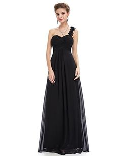 Ever Pretty Womens Elegant One Shoulder Sweetheart Wedding Guest Dress 14 US Black *** To view further for this item, visit the image link.