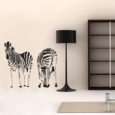 Make your kids' fantasies come true with these colorful kids vinyl wall decals. Add interest to your kids room with these elegant Zebra giant wall stickers, the perfect cost effective solution to transform your kids' space into a kingdom of creativity and joy.$79.95
