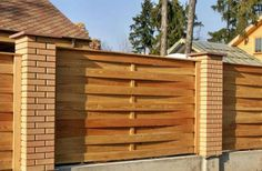 wooden fence design ideas and yard landscaping