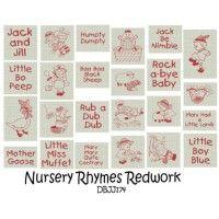Nursery Rhymes Redwork