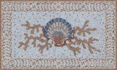 TIle rug for bathroom Pebble Painting, Stone Painting, Ravenna Mosaics, Beach House Bathroom, Master Bathroom, New Ravenna, Red Lake, Mosaic Backsplash, Kitchen Backsplash