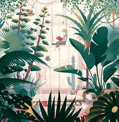 garden illustration Cover illustration for Italian magazine Andersen. Illustration Landscape, Forest Illustration, Plant Illustration, Graphic Illustration, Magazine Illustration, Watercolor Illustration, Illustrator, Plant Art, Illustrations And Posters