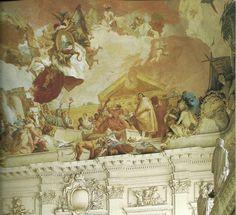 El Tiepolo en Wurzburg detalle del techo con la representacion de Europa