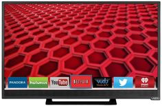VIZIO E241i-B1 24-Inch 1080p 60Hz Smart LED HDTV (Black) #vizio #electronics