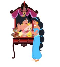 Vanellope Vanity for Disney Fan Art, Disney Love, Disney Magic, Disney Pixar, Walt Disney, Disney Characters, Disney Princesses, Disney Jasmine, Aladdin And Jasmine