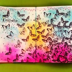 My Art Jounal Butterflies -could do a day where we fill a page with repetition of shape