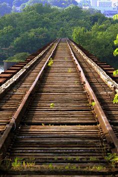 Train Tracks Bridge   photo