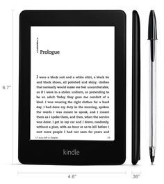 Kindle Paperwhite Touch Screen E-Reader with Light--makes for easy reading wherever you are, no matter how sunny it is outside!