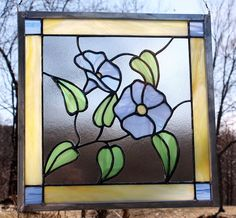 Hey, I found this really awesome Etsy listing at https://www.etsy.com/listing/91799936/morning-glory-stained-glass-panel-window