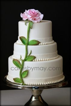 single rose cake