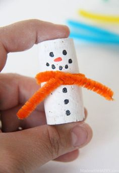 Easy cork sheet canoe DIY craft + 4 more crafts to make with cork sheets (and wh.Easy cork sheet canoe DIY craft + 4 more crafts to make with cork sheets (and where to buy Snowman Crafts, Snowman Ornaments, How To Make Ornaments, Snowman Tree, Snowmen, Christmas Ornaments, Crafts For Kids To Make, Christmas Crafts For Kids, Diy And Crafts