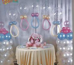 balões decorados para cha de fraldas