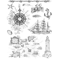 Transparent Silicone Stamps 18cm x 14cm Re-usable Nautical Boats Seaside Designs in Crafts, Rubber Stamping, Stamps | eBay