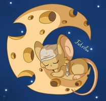 the moon is made ​​of cheese :D