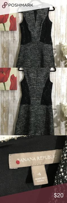 Beautiful black and white dress Banana Republic This item is very beautiful,great for work and any for formal event.   Measurement  Chest area: 16 Waist area: 15 Full length: 34 Banana Republic Dresses Midi