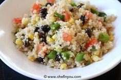 Black Beans Quinoa Salad Recipe | Healthy Quinoa Recipes